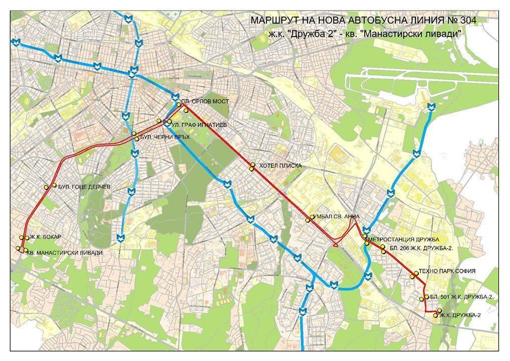 София: До 11 юли автобус 63 е с временна организация на движение